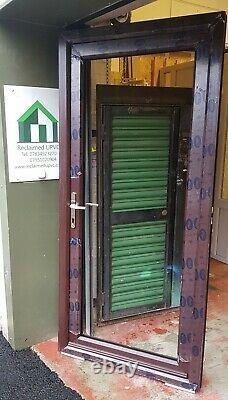 Upvc double glazed door rosewood mancave summerhouse Garage pvc 990x2120 (6305)