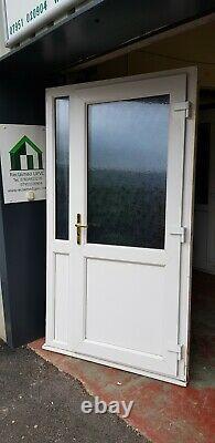 Upvc double glazed door white mancave summerhouse porch open out 1146x2084 6562