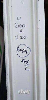 Upvc sliding patio white doors mancave Garage garden room pvc 2100x2100 (6429)