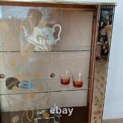 VIntage Glass Fronted China Display Cabinet Retro Mid Century Ornate Classic
