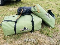 Vango Icarus 500 Family Tent, Including Front Porch And Carpet. Good Condition