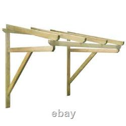 VidaXL Solid Pinewood Door Canopy 150x150cm Front Porch Awning Rain Shelter