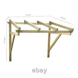 VidaXL Solid Pinewood Door Canopy 200x100cm Front Porch Awning Rain Shelter
