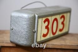 Vintage Reverse Painted Glass Sign Home Store Address Display Porch front Door