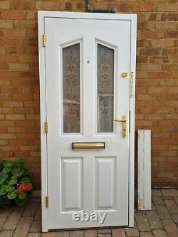 White composite front door