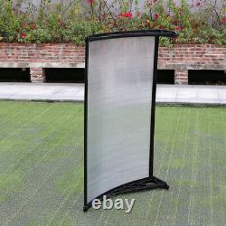 Window Door Front Canopy Fixed Awning Porch Patio UV Water Rain Snow Proof Cover