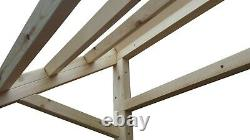 Wooden Front Door Canopy Porch Roof Timber Frame Lean to Awning Shelter Cover