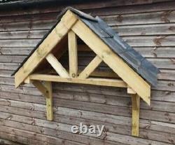 Wooden Front Door Canopy Porch Slate Tiles INC