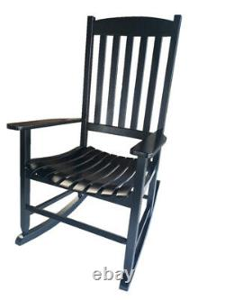 Wooden Rocking Chair Patio Furniture Sturdy Indoor Outdoor Front Porch Rocker