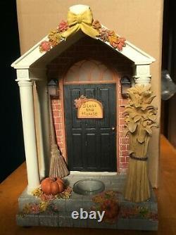 Yankee Candle Light Up Front Door Porch Fall Pumpkins Hanging Tart Warmer USA